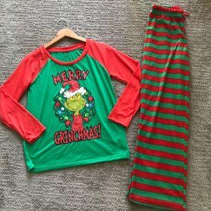 Merry Grinchmas Fleece Dr. Seuss Pajama Set